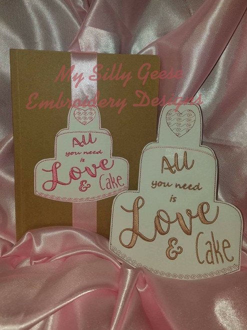 Both 4x4 & 5x7 Love & Cake Book Band with Pocket