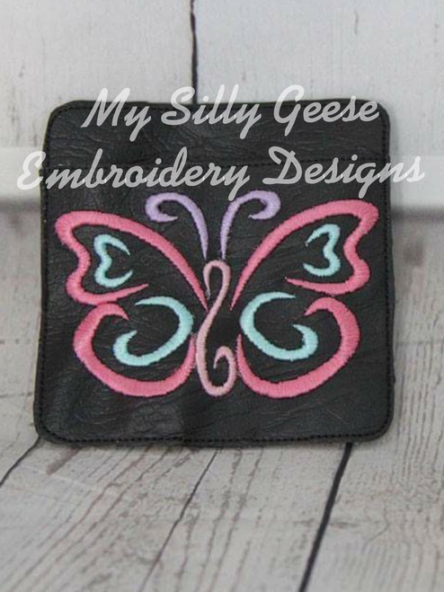 4x4 Butterfly Book Band with Pocket