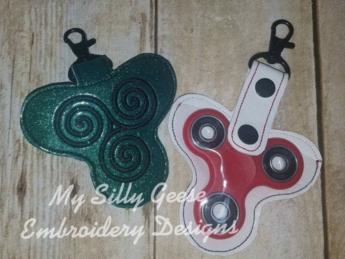 Key Chain Spinner Case Swirl