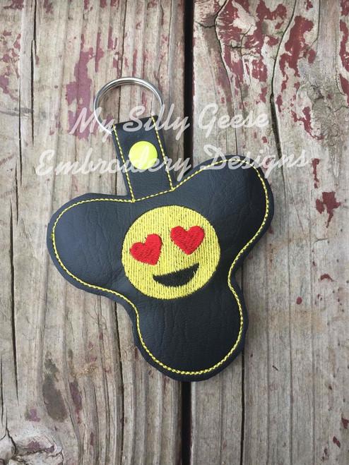 Key Chain Spinner Case Love Smiley