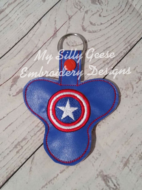 Key Chain Spinner Case American Hero