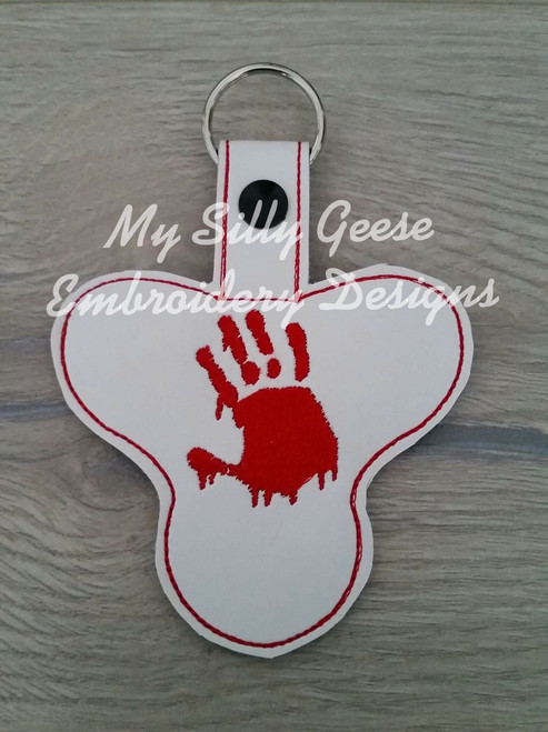 Key Chain Spinner Case Bloody Hand
