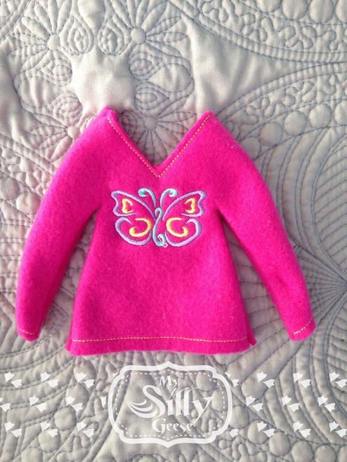 5x7 Elf Sweater Butterfly