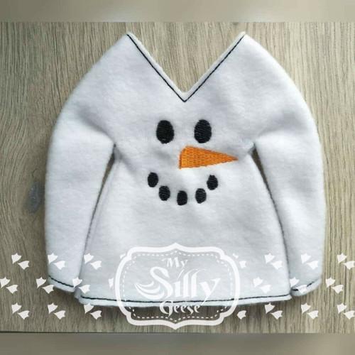 5x7 Elf Sweater Snowman 1