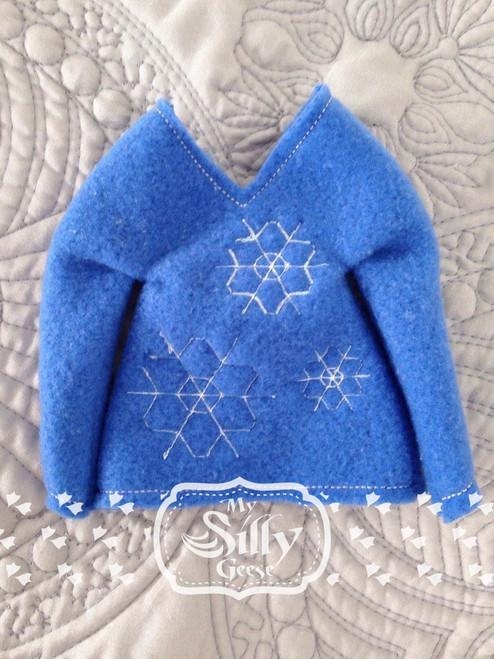 5x7 Elf Sweater Snowflakes
