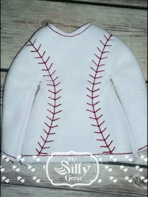 5x7 Elf Sweater Rounded Baseball