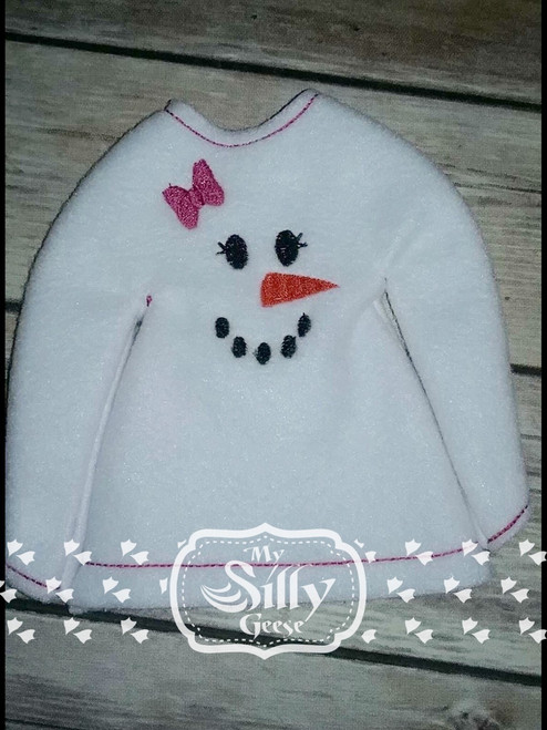 5x7 Elf Sweater Rounded Snowman 6