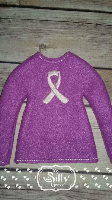 5x7 Elf Sweater Rounded Ribbon
