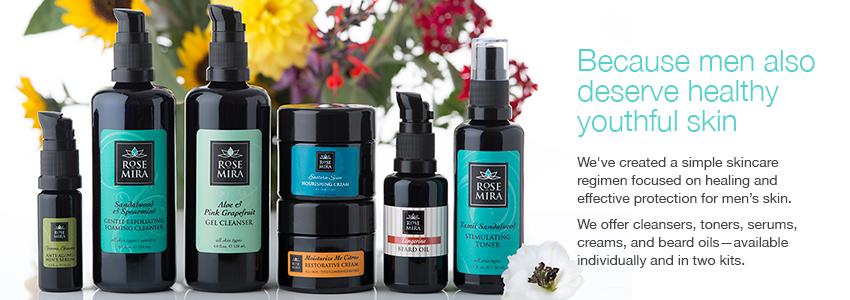 Top Organic Skin Care Products Rosemira For Men | Rosemira