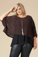 Transformative Lace Layering Top - Brown