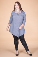 All I Could Wish For Tunic - Grey Denim Print