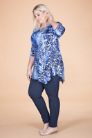 Say it Out Loud Tunic - Blue Animal Print