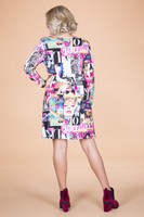A Multi-Tasker, Just Like Me Dress - Magazine Print