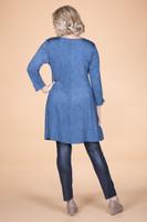 Off the Cuff Tunic - Blue Denim Print