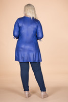 Off the Cuff Tunic - Cobalt Faux Leather