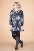 Count on Me Tunic - Mixed Garden Print