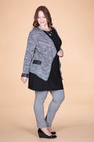 All Day Any Day Jacket - Mixed Grey Print