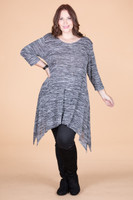 Your Best Foot Forward Tunic - Mixed Grey Print