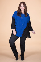 Easy Breezy Drop Shoulder Tunic - Blue