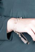 Layer Beads Tassel Bracelet - Brown