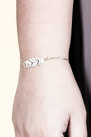 Crystal Leaf Draw Chain Bracelet - Gold