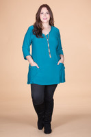 Fitted Pocket Tunic - Petrol