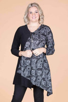On the Bias Tunic - On The Fence Floral Print