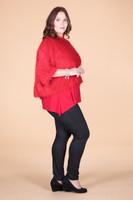 Transformative Fur Layering Top - Red