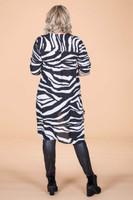 High-Low Chiffon Tunic - Animal Print