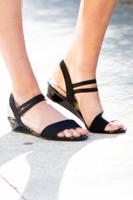 Step This Way Wedge Sandal - Black