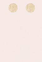 Textured Metal Circle Earrings -  Gold