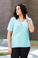 Basic But Never Boring Short Sleeve Shirt - Aqua