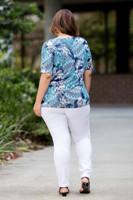 Basic But Never Boring Short Sleeve Shirt - Zig Zag Print