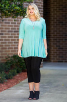 Beautifully Simple Tunic - Mint