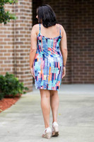 Perfectly on Point Tank Dress - Modern Art Print