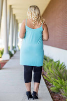 Perfectly on Point Tank Dress - Aqua