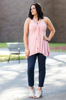 Everything You Need Sleeveless Top - Rosa