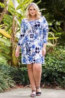 A Multi-Tasker, Just Like Me Dress - Blue Hawaiian Print