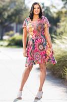 Better Than Ordinary Blouson Dress - Floral Frenzy Print