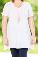 Pretty as a Picture Short Sleeve Top - Creme
