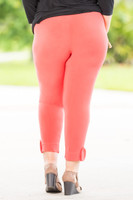 Any Occasion Leggings - Coral