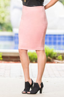 Fashionista Short Skirt - Faux Leather Rosa