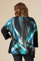 Easy Breezy Drop Shoulder Tunic - BLUE LIGHTS PRINT