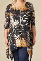 Your Best Foot Forward Tunic - Mustard Print