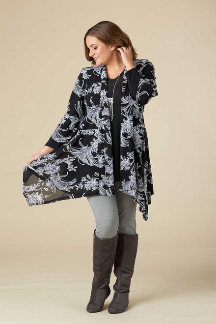 Don't Mention It Cover - Black & White Toile