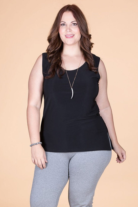 Every Question Answered Sleeveless Top - Black