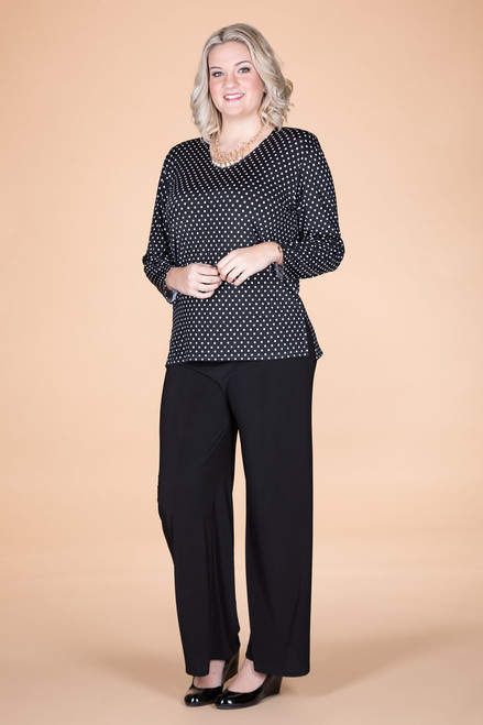 At Your Leisure Side Slit Top - Spots
