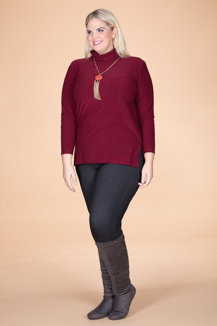 Every Woman Long Sleeve Top - Wine