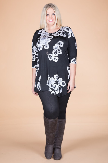 Say it Out Loud Tunic - Simple Floral Print