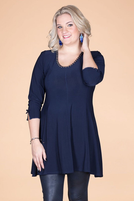 Off the Cuff Tunic - Blue